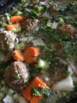 Italian Wedding Soup with Brown Rice and Spinach