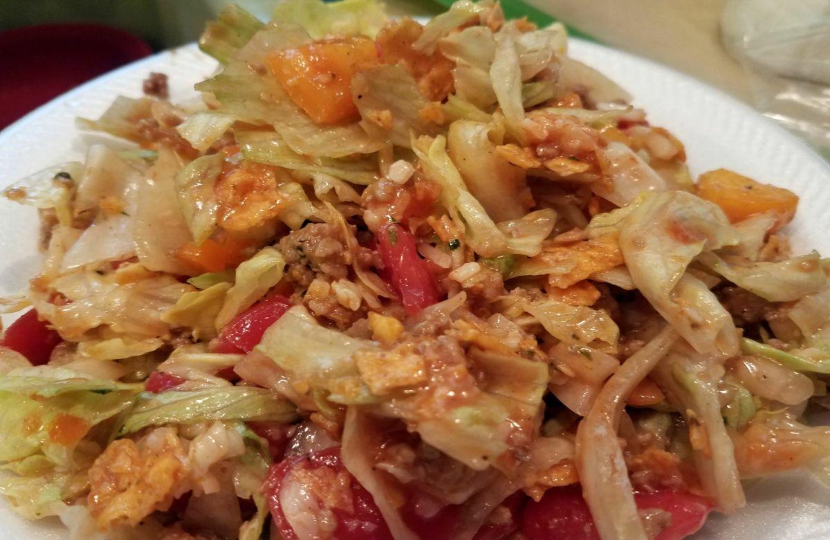 Taco Salad w/Nacho Cheese Chips