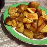 Home baked potato wedges