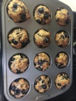 Whole Wheat No Added Sugar Blueberry Lemon Muffins