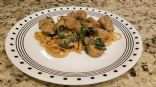 Alfredo Linguine with Spinach and Chicken Sausage