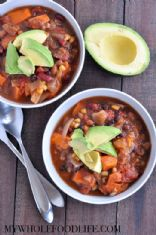 Amazing 3 Bean Sweet Potato Chili