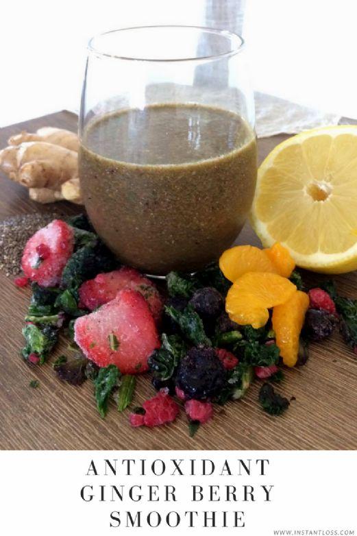 Antioxidant Ginger Berry Smoothie (instantloss.com)