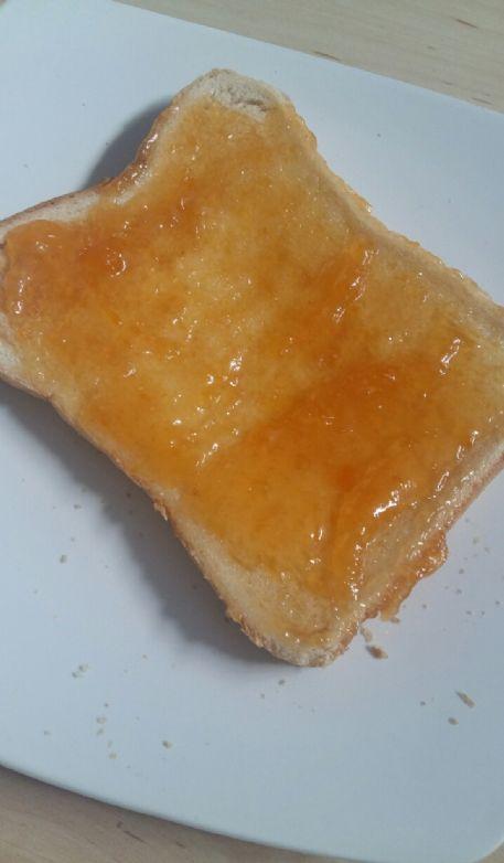 Apricot jam toast