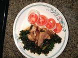 Asian style Whiting fish with Kale