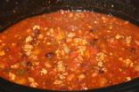 Autumn Crockpot Turkey Chili