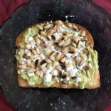 Avocado Toast with Feta and Pine Nuts