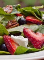 Baby Spinach Salad w/ Berries, Pecans & Feta in Raspberry Vinaigrette