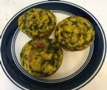 Bacon, Spinach, and Egg Muffin