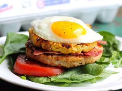 Bacon, Egg & Pineapple Turkey Burger