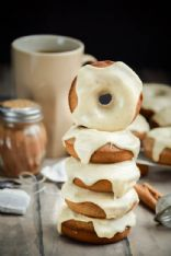 Baked Chai Latte Doughnuts with Vanilla Bean Icing