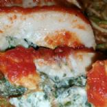 Baked Chicken Breast Stuffed with Spinach and Goat Cheese