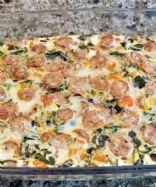 Baked Egg White Vegetable Casserole