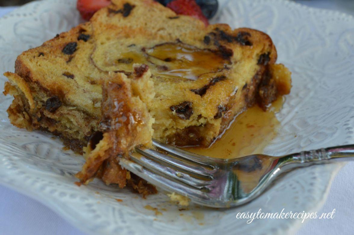 Baked Raisin Bread French Toast