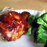 Baked Teriyaki Chicken Thighs (w/skin & bone)