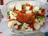 Baked chicken breast with vegetables