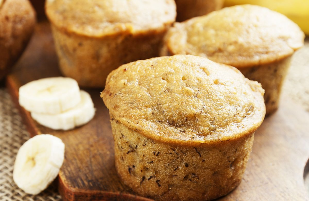 healthy banana muffins yogurt