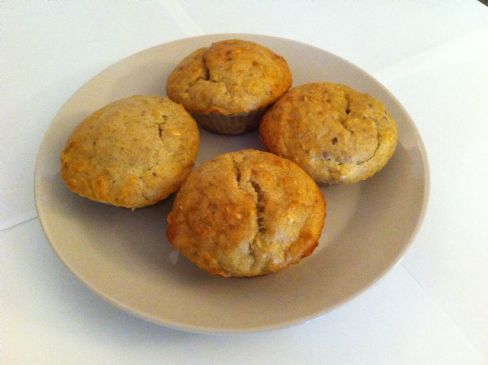 Banana Nut Oatmeal Protein Muffins