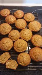 Banana Pumpkin Apple Protein Muffins