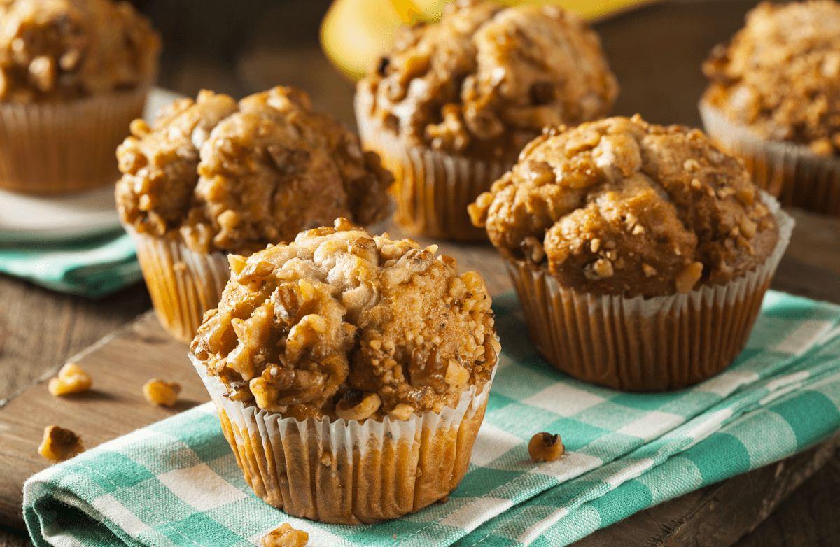 Banana Walnut Protein Muffins