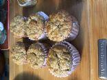 Banana oatmeal, oat bran muffins