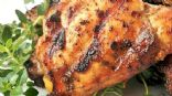Barbecued Chicken Breasts and Baked Sweet Potatoes