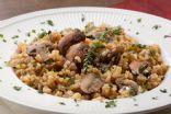 Beefy mushrooms and rice
