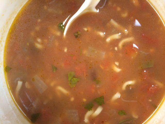 Black Bean Ramen Soup