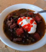 Black Bean Soup with Smoked Pork