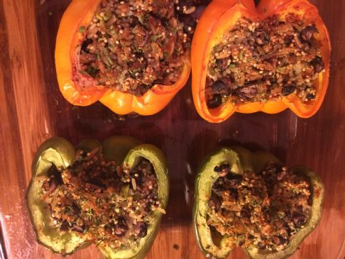 Black Beans & Quinoa Stuffed Peppers