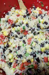 Black bean cilantro corn quinoa