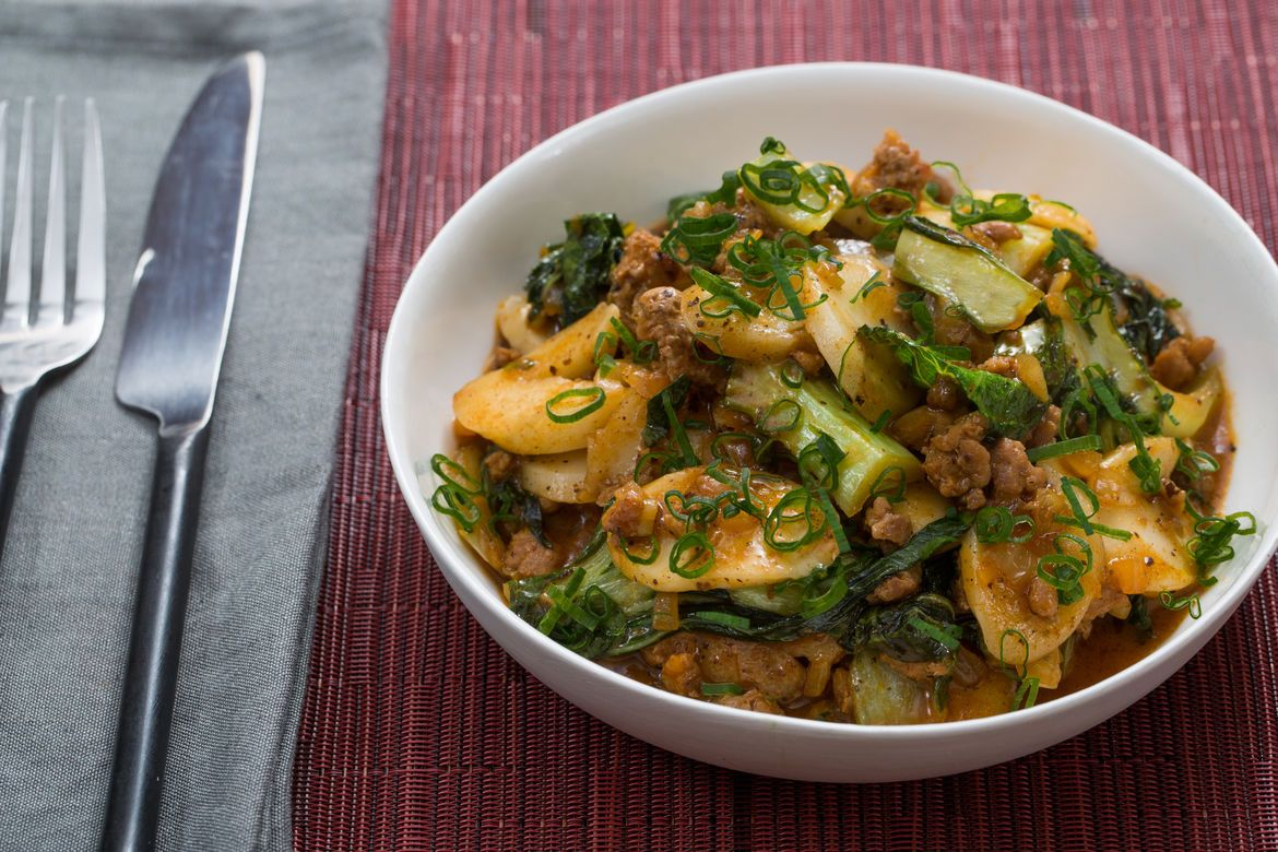 Blue Apron Korean Tteok and Spicy Pork Ragu