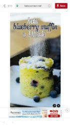 Blueberry Mug Muffin Keto