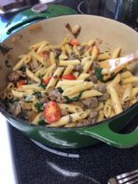 Braut and Spinach Pasta