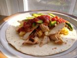 Grilled Chicken Breakfast Burrito