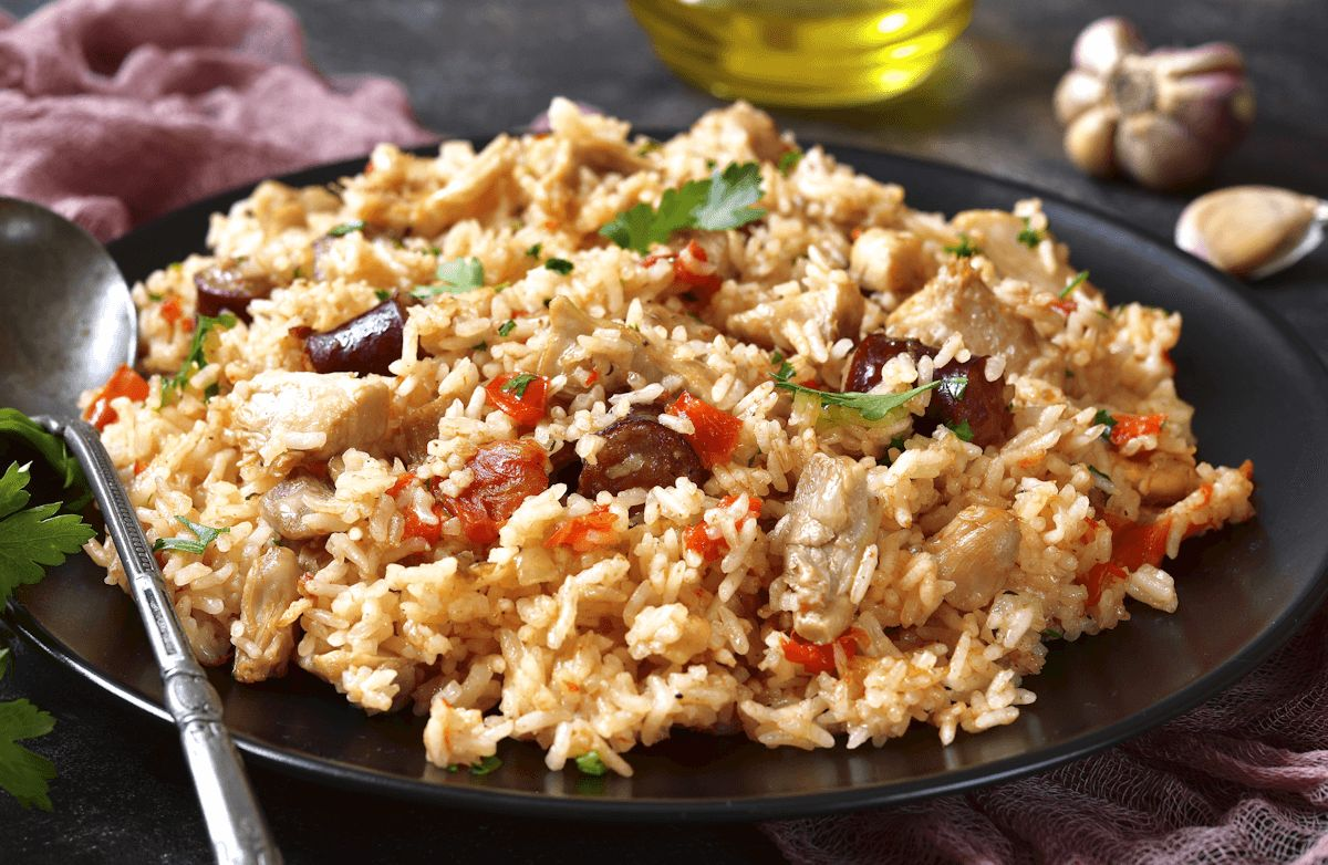 Cajun Chicken and Pork Jambalaya