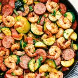 KETO - Shrimp and Sausage Vegetable Skillet