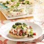 Canadian Bacon and Vegetable Breakfast Casserole