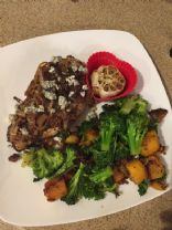 Caramelized Balsamic Chicken with Roasted Garlic and Veggies