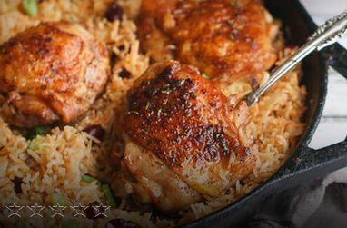 Caribbean Jerk Chicken & Rice