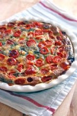 Carny's loaded Crustless Quiche