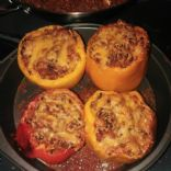 Cauliflower Rice & Beef stuffed peppers