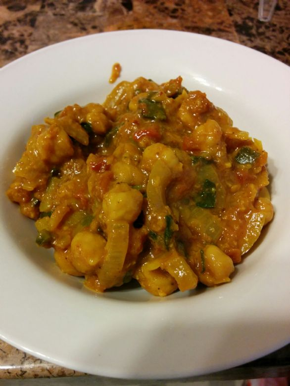 Chana Masala / Curried Garbanzo Beans