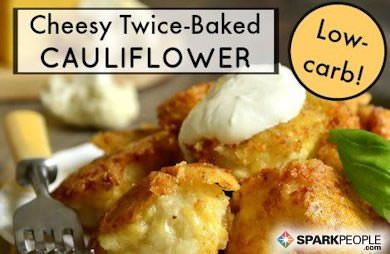 Cheesy Baked Cauliflower (Mock Twice Baked Potatoes)
