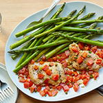 Atkins Chicken Picatta with Capers and Tomatoes