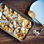 Atkins Chicken Cauliflower Mac and Cheese