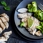 Atkins Indian Tikka Chicken with Sauteed Broccoli