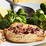 Atkins Tilapia with Olive Butter and Broccoli