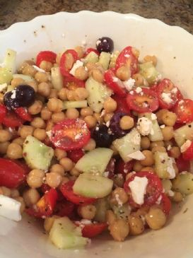 Chick Pea Cucumber Tomato Salad