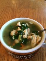 Chicken, White Bean, and Spinach Soup